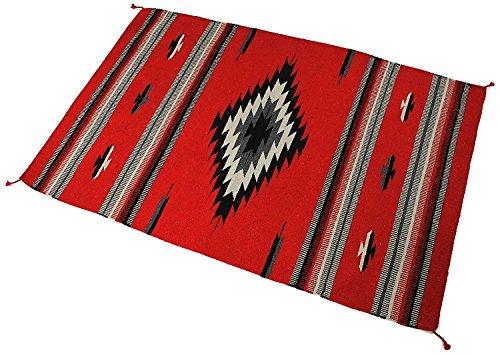 Splendid Exchange Hand Woven Acryl Southwest Bereich Teppich, 4Füße von 6Füße, Acrylbeschichtete Baumwolle, Diamond and Spears Red and Black, 4 x 6 - Hand-woven-diamond