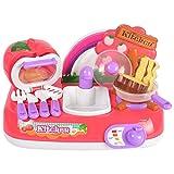 Kinder Küche Spielzeug Mädchen Jungen Spielhaus Tisch Mit Sound Und Lichteffekten Simulierte Kinder Spielhauslicht Musiktisch Simulations31 * 20 * 18,5 Cm, 4 Stück * AA-Batterien (selbstversorgt)