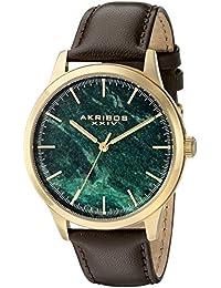 Akribos XXIV AK937BRGN - Reloj de cuarzo para hombres, color marrón