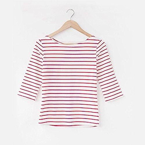 Ärmellänge: 7 Stunden langärmliges Shirt: Allgemein,  Manschette - Typ: Allgemein Muster: feine horizontale Streifen Muster Kultur: Die klassischeGrößen: XS XXL S L M XL XXXL