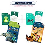 Aquatic Life + Insects | Age 3-10 Years | Ideal Return Gift For Boys & Girls | Augmented And Virtual Reality Based Learning Toy | Combo Offer Of 2