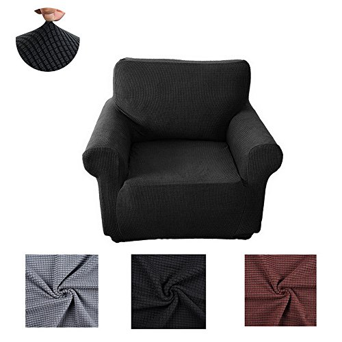 URIJK 1/2/3/4 Sitzer Sofabezug Elastisch Polarfleece Sofahusse Sofadecke Einfarbig Sofaschutz Sofa...