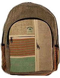 HIMALAYAN Mochila de fibra de cáñamo/ mochila de día de cáñamo / mochila para la