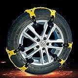 6er Set Anti-Rutsch-Schneeketten Universal verdickte TPU Auto Reifen-Kette Anti-Rutsch Notfall-Zuggurt mit Doppelschnallen für Winter Schnee Straße