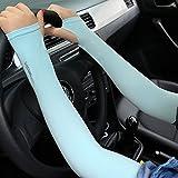 K&C Femmes Outdoor Summer Anti UV solaire Cyclisme Conduite Pêche à manches longues Manchettes Arm Cover Bleu Rose