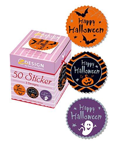 AVERY Zweckform 56858 Sticker auf Rolle, Happy Halloween (38 mm, im Spender) 50 Aufkleber