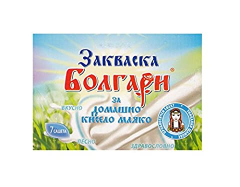 Yogurt Starter Culture ''BOLGARI'' - Pack of 7 Freeze Dried Sachets for Homemade Yogurt