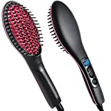 #7: Jhmart 2 In 1 Ceramic Hair Straightener Brush (Black)