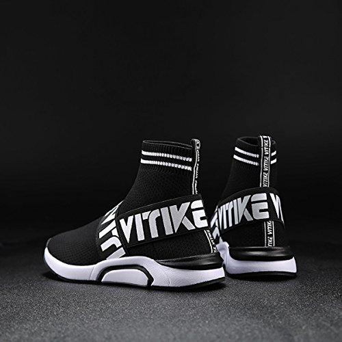 Elaphurus Scarpe per Bambine e Ragazzi per Scarpe da Ginnastica Corsa Sportive Running Sneakers Fitness Interior Casual allAperto Nero