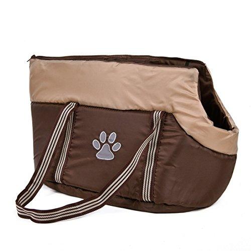 XUJW-PET Reisetasche für kleine Hund Tragetasche für Katze Tasche Transport für Haustiere tragen Tasche für Kätzchen Tasche mit Schulterriemen Farbe Khaki 2 Größen ( Size : S (Tragen Hund)