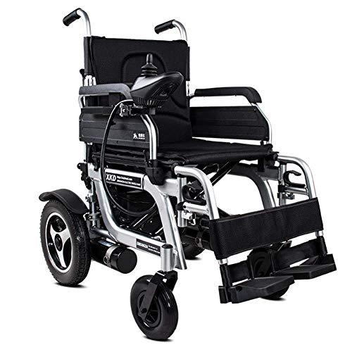 Zusammenklappbarer Elektrorollstuhl (rechte Seite) - Rollstuhl mit Power Compact-Mobilitätshilfe, Geschwindigkeit 1-8 km/h, maximale Zuladung 120 kg, schwarz Komfortabel