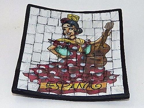 Générique - Centro tavola/ svuota tasche in ceramica, motivo: ballerina di flamenco spagnola