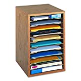 Safco Schreibtischsammelablage aus Holz mit 11 Fächern