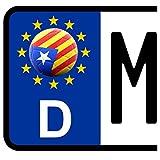 3 x Kennzeichen-Aufkleber Ball KATALONIEN Flagge KFZ Motorrad FanShirts4u SPANIEN