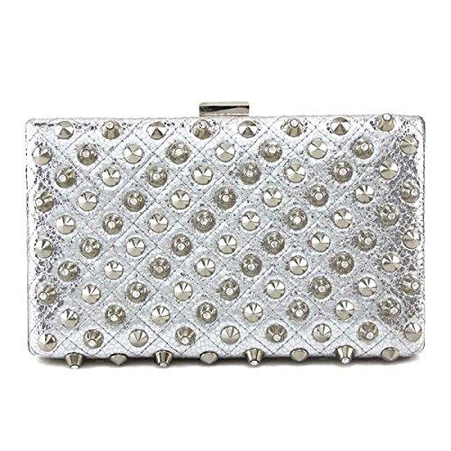 Borse Delle Signore Di Sacchetto Di Sera Rivetti Ladies Fashion Silver