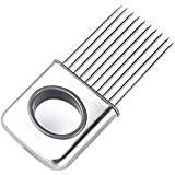 ShineVGift Easy Onion Holder Slicer Vegetable tools Tomato Cutter Stainless Steel Kitchen Gadgets oignon trancheuse