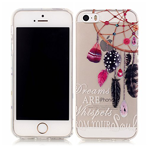 iPhone 5S Coque, iPhone SE Coque, Lifeturt [ Ours ] Housse Anti-dérapante Absorbant Chocs Protection Etui Silicone Gel TPU Bumper Case pour iPhone SE/5S/5 E02-Rêves