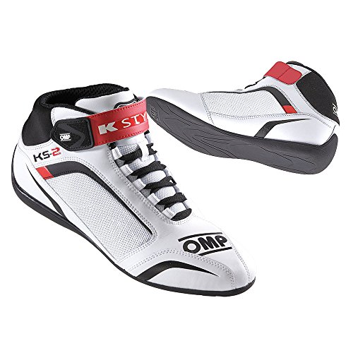 Omp Karting- und Freizeitschuh KS-2 Weiß/Rot 38 (Racing Schuhe Omp)