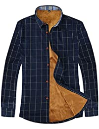 Men Pure Cotton Shirt Mercerized Slim Fit Long Sleeve Plaid Business Checked Casual Dress Turn-Down Collar Button Down Suit British Stylish
