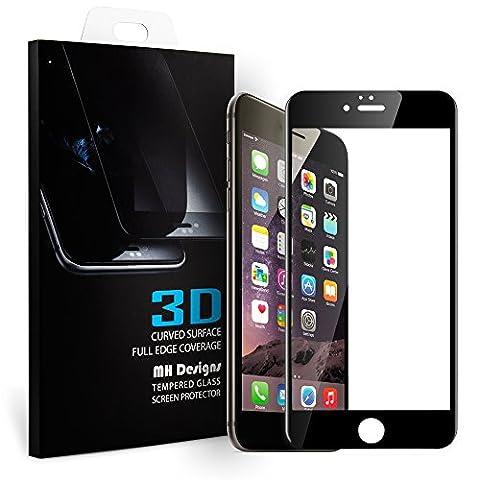 iPhone 6 Protecteur d'écran, MH Designs® 3D Curve Fit Couverture Complète Protection écran en Verre Trempé pour Apple iPhone 6 4.7 pouces -