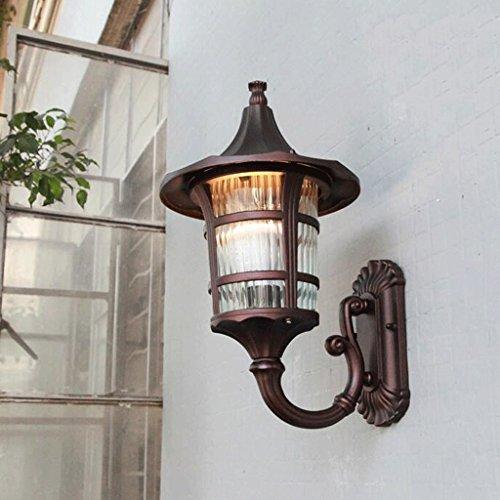 GBYZHMH Wandleuchte European Outdoor Wand hängende Lampe Wandleuchte Tür retro Regenschirm lichter Balkon Lampe villa Lampe Fassaden Wand (Messing-outdoor-hängenden Anhänger)