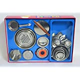 Realistic Stainless Steel SMALL TOY Kitchen Set For Girls
