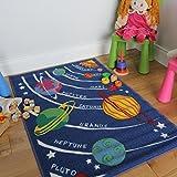 Blau Astronomie & Planeten Rutschfest Waschbar Jungs Jungen Schlafzimmer Spielmatten 2 Größen - Apollo