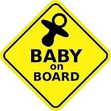 "4.5x 4,5""Baby on board Sign Parachoques Adhesivo Coche Ventana Pegatinas Adhesivos"