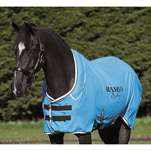 Horseware Rambo Dry Rug Supreme – Blue/Black/White, Groesse:M - 4
