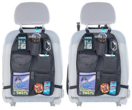 PEARL Rücksitz Organizer: 2er-Set Kfz-Rückenlehnen-Organizer für Spielzeug & Co, alle Fahrzeuge (Rücksitz Tasche)