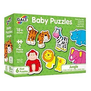 ASA Toys Infatiles Animales Galt Toys Puzle Infantile-Selva, Multicolor GA1003031