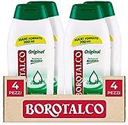 Borotalco, Bagnodoccia Original, Bagnoschiuma al Profumo di Borotalco - 4 Flaconi da 700 ml