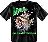 Fun Spruch T-Shirt Angeln nur was für Männer Grösse L
