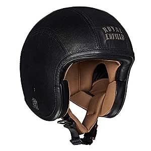 Royal Enfield Black Open Face Helmet Size (XL)62 CM (RRGHEI000058)