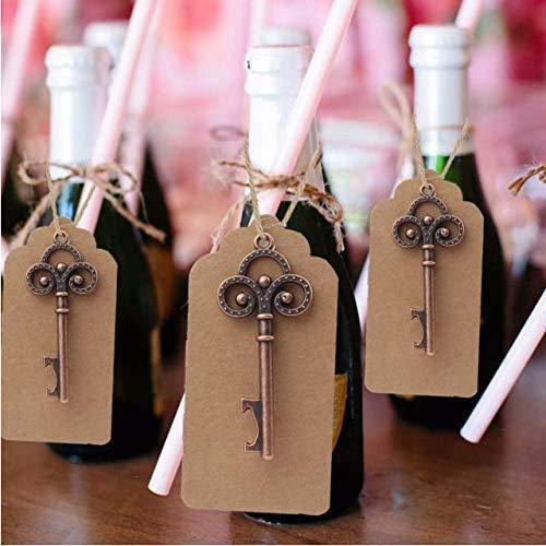 VPlus 36pcs Hochzeit Souvenirs Skeleton Flaschenöffner + Tags Hochzeit Gefälligkeiten und Geschenke für Gast Parteibevorzugungen Festliche Party Supplies