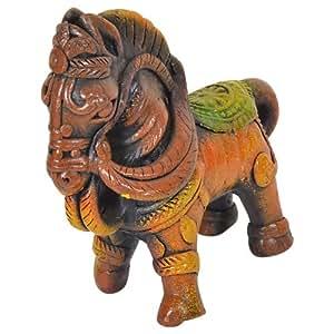 Handmade Terracotta Horse, Made by Artisans of India