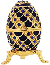 The Olivia Collection TOC Small Purple Fabrege-Style Egg Trinket Jewellery Box
