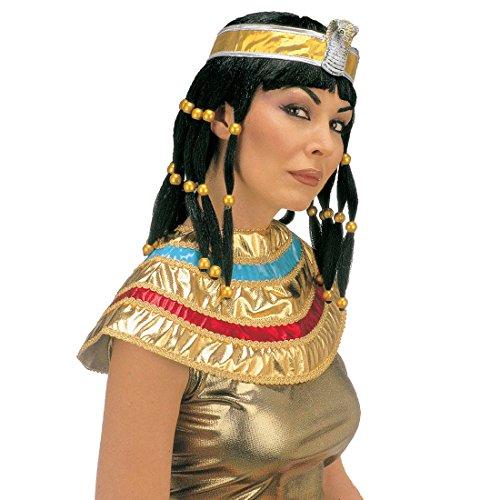Net toys parrucca cleopatra con collare carnevale regina dell'antico egitto capigliatura per travestimento