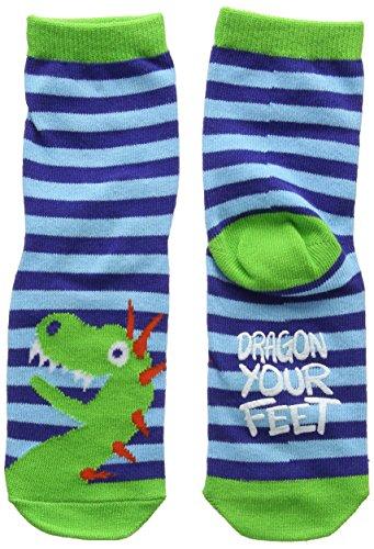 Hatley Animal Sock, Calcetines para Niños, Grey (Lion Around) Small