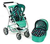 Bayer Chic 2000 638 21 - Kombi-Puppenwagen 2-in-1 Emotion, Menta, navy/mint