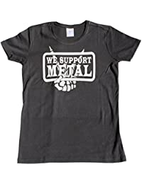 """Wacken Foundation"" T-Shirt for WOMAN ""we support metal"" cover up FINGERS"