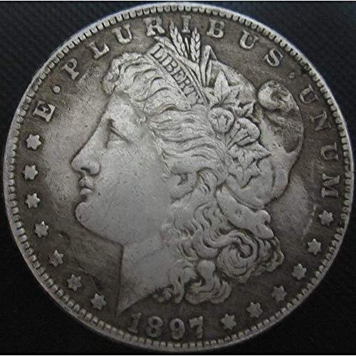 DDTing Best Morgan US Dollars (1804-1926) Münze zum Sammeln - US Dollar USA Old Original Pre Morgan Dollar goodService 1897