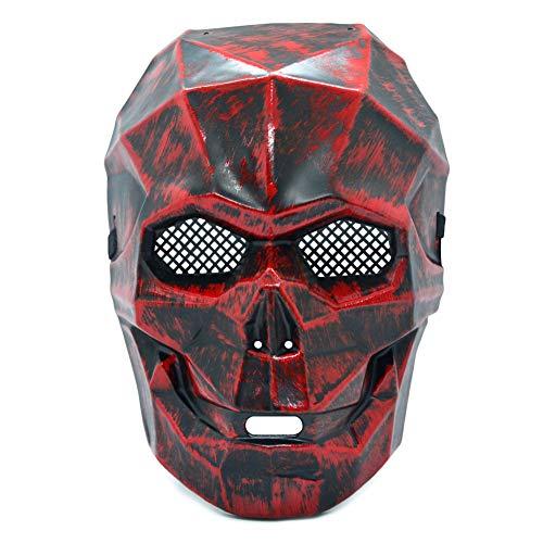 HOMELEX Skelett Rot Schädel Skull Geist Tod Halloween Maske zum Knochen Cosplay Kostüm - Maske Des Roten Todes Kostüm