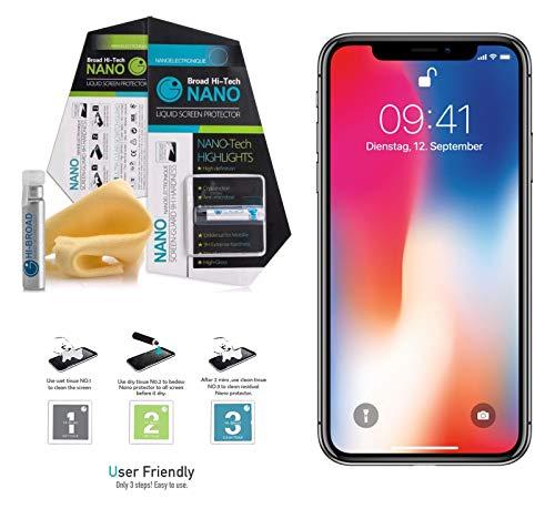 Shoptronics24 flüssig Panzerfolie fürs Smartphone Panzerglas für Handys Bildschirm Schutz Folie Apple iPhone Samsung Huawei Sony LG Acer ASUS Alcatel BQ HP ZTE Xiaomi usw. (Huawei Mate 10)