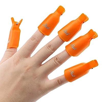 RICISUNG Lint Free Nail Art Wipes Acrylic Gel Tips Remover Nail Art Soak Off Clip Cap Polish Remover Wrap Nail Tool