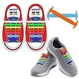 Homar-Kind-elastische Athletisch Flat No Tie Schnürsenkel - Best in Sport Im Freien Fan Shop Schuhe Schnürsenkel - ein für alle Mal Silicon Schnürsenkel Perfekt für Sneaker Stiefel Oxford Sportschuhe - Bunte