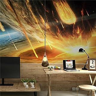 Custom Tapete modernes 3D Bilder auf der Wand Wandbild Tapete Schwarz Weiß Smoke Meteor Dusche Art Design Schlafzimmer Wohnzimmer Tapete, XXL(13'6