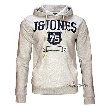 Jack & Jones Sweat Gold Medal Hood Slim Fit white melange Gr.XL