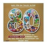 Depesche 3865.013 Glückwunschkarte mit Musik und Motiv von Archie, 80. Geburtstag, Mehrfarbig