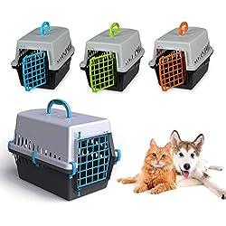 10570 Transportin rejilla plástico de 50 cm perros y gatos - Naranja